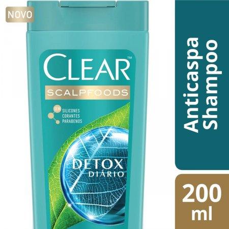 Shampoo Anticaspa Clear Detox Diário com 200ml