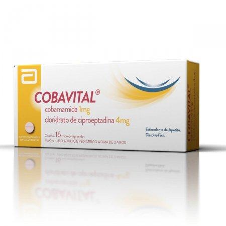 Cobavital 4mg + 1mg com 16 microcomprimidos