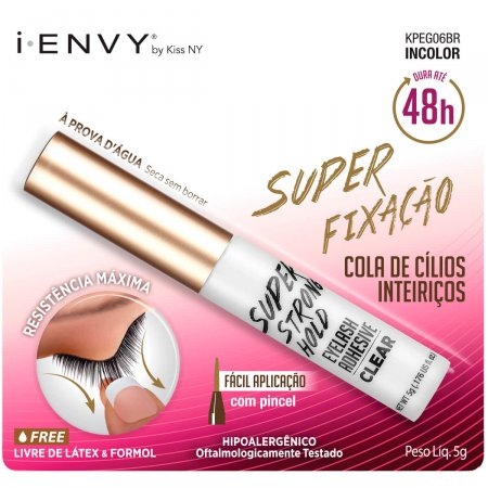 Cola para Cílios Postiços I-ENVY by Kiss NY 48h Incolor