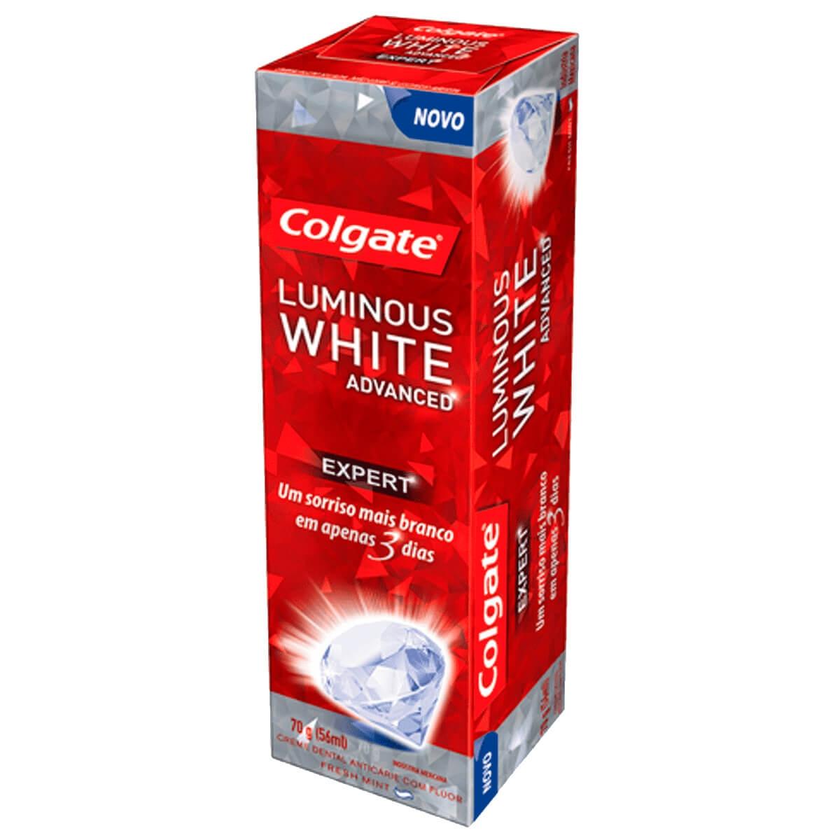 Colgate Creme Dental Luminous White Advanced 70g Droga Raia
