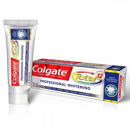 Creme Dental Colgate Total 12 Professional Whitening
