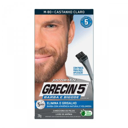 Color Gel Grecin 5 Barba e Bigode Castanho Claro