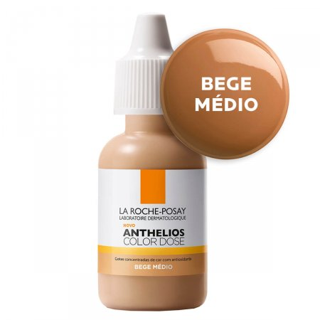 Pigmento Facial Anthelios Color Dose Bege Médio