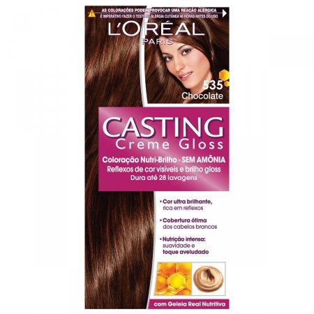 Coloração Permanente Casting Creme Gloss N° 535 Chocolate