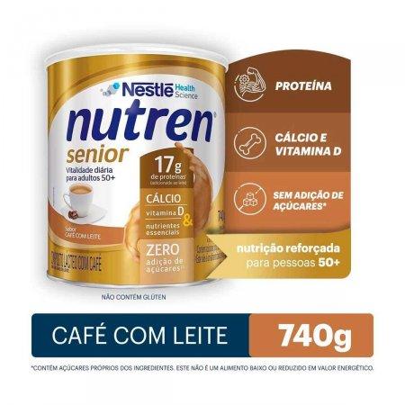 Suplemento Alimentar Nestlé Nutren Senior Sabor Café com Leite com 740g