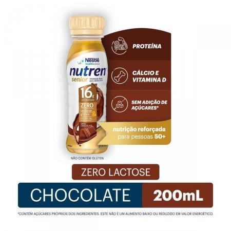 Complemento Alimentar Nestlé Nutren Senior 50+ Sabor Chocolate com 200ml