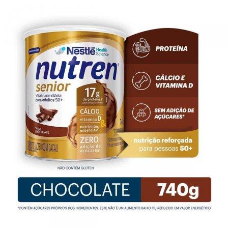 Complemento Alimentar Nutren Senior Sabor Chocolate 740g  