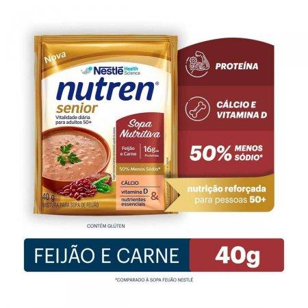 Complemento Alimentar Nutren Senior Sopa Nutritiva Feijão e Carne 40g  
