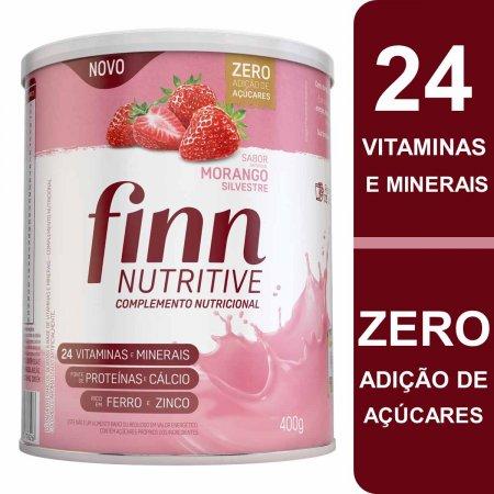 Suplemento Alimentar Finn Nutritive Sabor Morango Silvestre com 400g