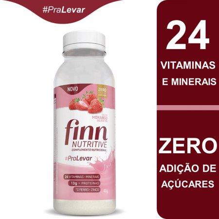 Complemento Nutricional Finn Nutritive Sabor Morango Silvestre com 46g