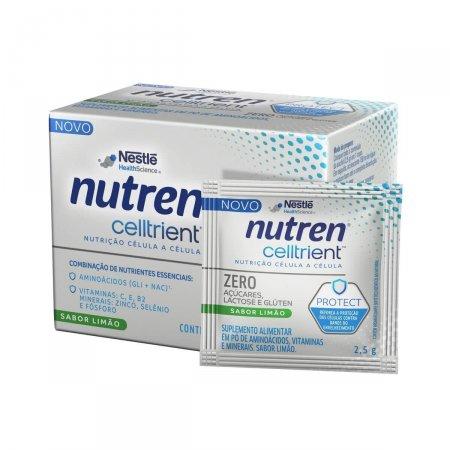 Suplemento Alimentar Nutren Celltrient Sabor Limão Sem Açúcar com 30 sachês de 2,5g