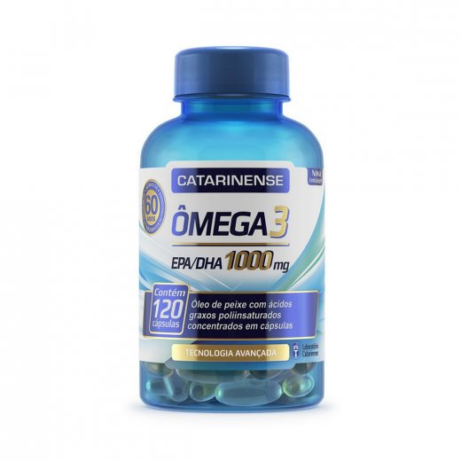 83e08bc9b Complexo Vitamínico Catarinense Ômega 3 1000 mg 120 Cápsulas