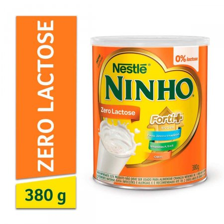 Composto Lácteo Ninho Forti+ Zero Lactose com 380g