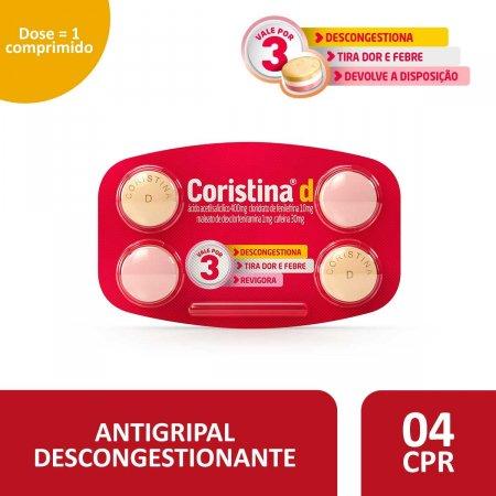 Coristina D com 4 Comprimidos