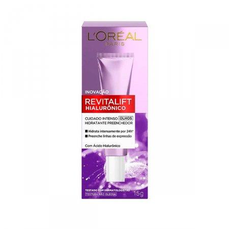 Creme Anti-Idade para os olhos L'oréal Paris Revitalift Hialurônico com 15g
