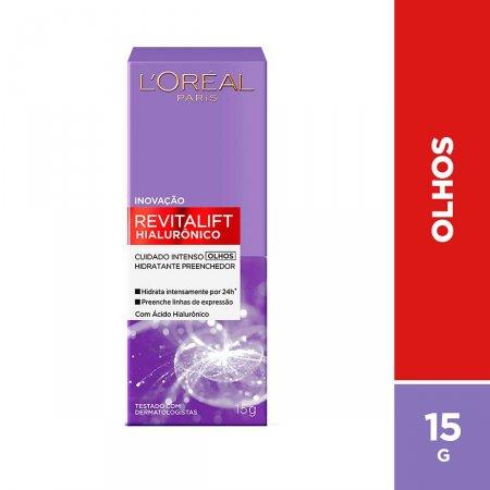 Creme Anti-Idade Olhos L'oréal Paris Revitalift Hialurônico com 15g