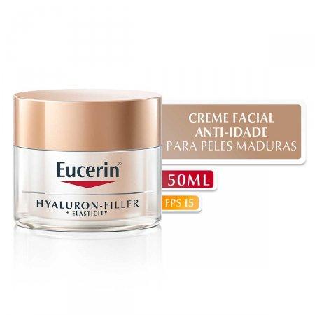 Creme Facial Anti-Idade Eucerin Hyaluron-Filler +Elasticity FPS 15 com 50g