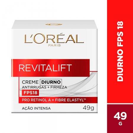 Creme Facial Anti-Idade L'Oréal Revitalift Diurno FPS 18 com 49g