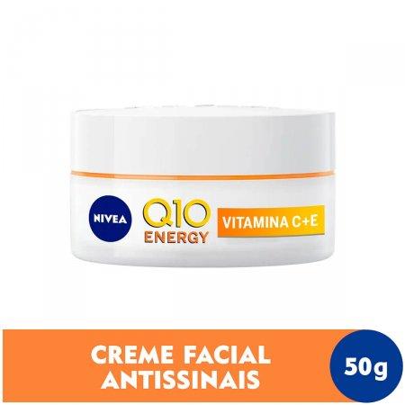 Creme Facial Antissinais Dia Nivea Q10 Energy Vitamina C FPS 15 com 50ml