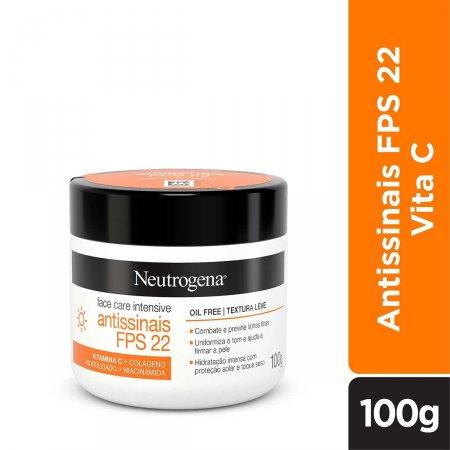 Creme Facial Neutrogena Face Care Intensive Antissinais FPS22 com 100g | Foto 1