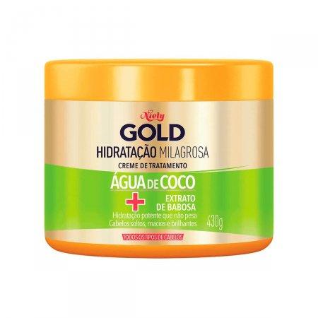 Creme de Tratamento Niely Gold Hidratação Água de Coco