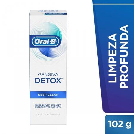 Pasta de Dente Oral-B Gengiva Detox Deep Clean com 102g
