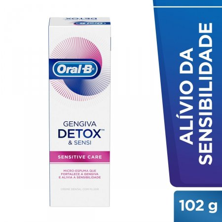 Creme Dental Oral-B Gengiva Detox Sensitive Care