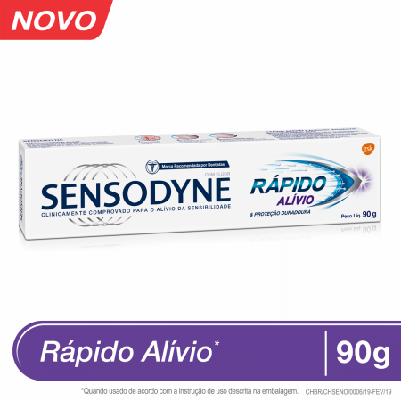Pasta de Dente Sensodyne Rápido Alívio com 90g