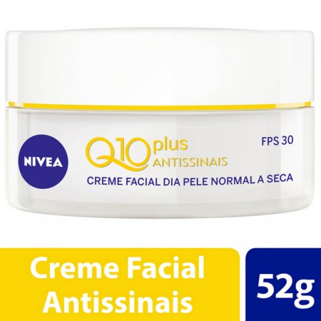 Creme Facial Antissinais Dia Nivea Q10 Plus Pele Normal a Seca FPS 30 com 52g