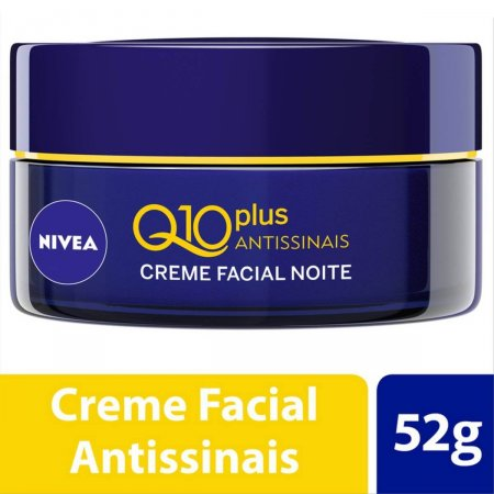 Creme Facial Antissinais Noite Nivea Q10 Plus