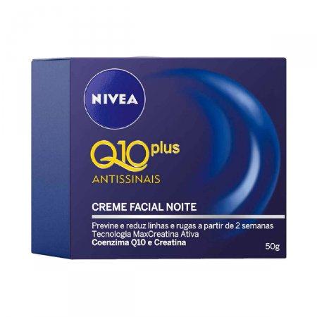 Creme Facial Antissinais Noite Nivea Q10 Plus