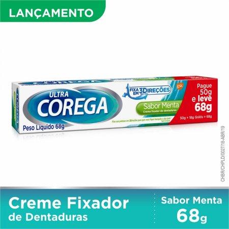 Creme Fixador de Dentadura Ultra Corega Sabor Menta com 68g