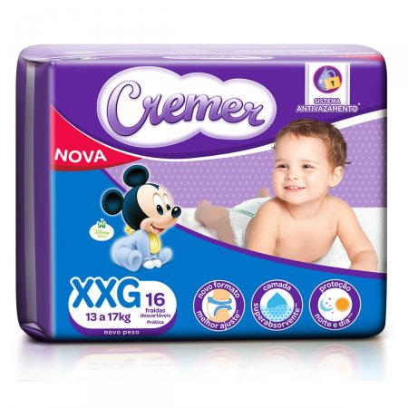 Fralda Cremer Magic Care Tamanho XXG
