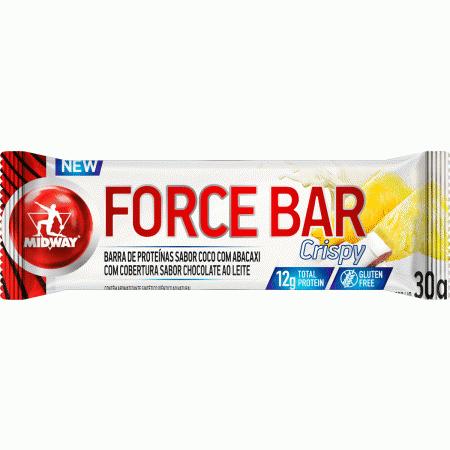 Barra de Proteina Force Bar Crispy Coco com Abacaxi