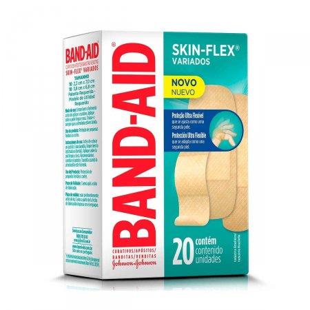 Curativo Band-Aid Skin Flex Variados 20 Unidades