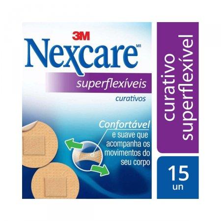 Curativo Nexcare Superflexíveis Redondo 15 Unidades