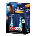 Kit Shampoo Anticaspa Clear Men Limpeza Diária 2 em 1
