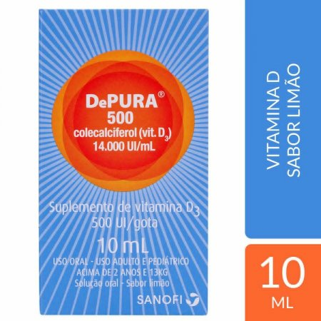 Vitamina D Depura 500UI com 10ml