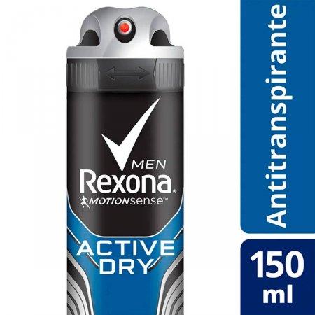 Desodorante Masculino Antitranspirante Aerosol Rexona Men Active Dry com 150ml