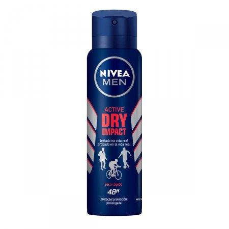Nivea Men Desodorante Aerosol Dry Impact 92g | Drogaraia.com Foto 2