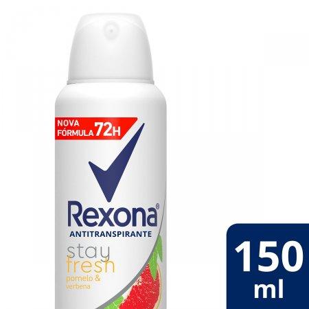 Desodorante Rexona Stay Fresh Pomelo e Verbena Feminino Aerosol Antitranspirante com 150ml