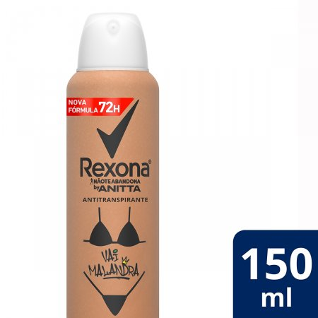 Desodorante Antitranspirante Aerosol Rexona Vai Malandra by Anitta com 150ml