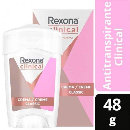 Desodorante Antitranspirante Rexona Clinical Classic em Creme com 48g