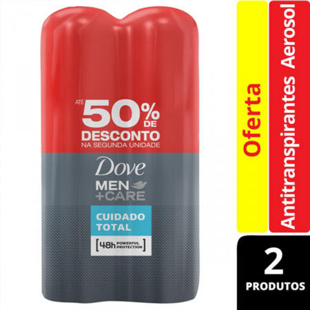 Desodorante Antitranspirante Aerosol Dove Men+Care Cuidado Total