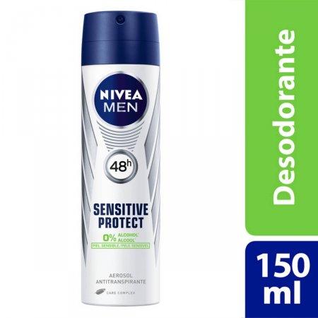 Desodorante Antitranspirante Aerosol Nivea Sensitive Protect
