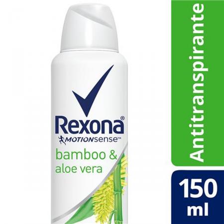 Desodorante Antitranspirante Aerosol Rexona Feminino Bamboo e Aloe Vera