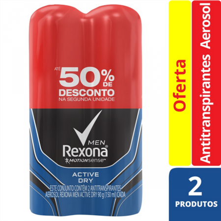Kit Antitranspirante Aerosol Rexona Men Active Dry