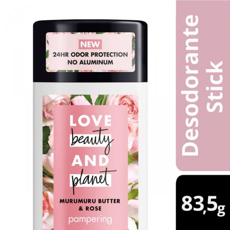 Desodorante Stick Love Beauty And Planet Pampering Manteiga de Murumuru & Rosa