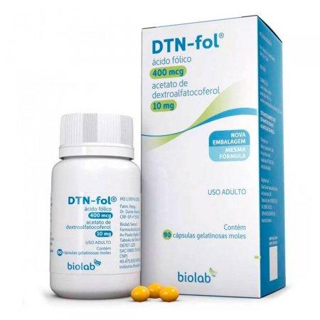 DTN-FOL 400mcg + 10mg com 90 cápsulas