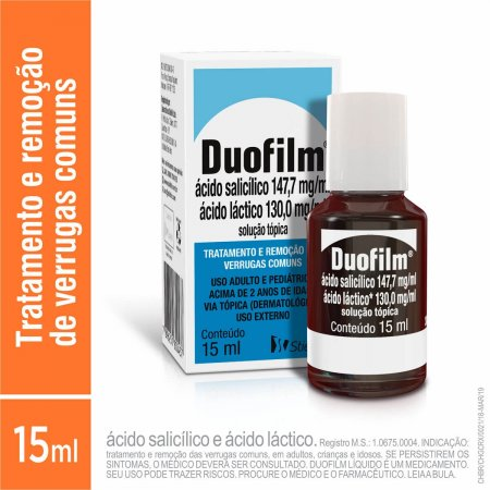 Duofilm 130,0mg/ml + 147,7mg/ml Solução Tópica com 15ml